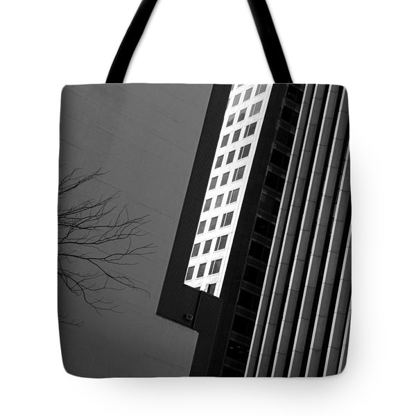Abstract Building Patterns Black White Tote Bag