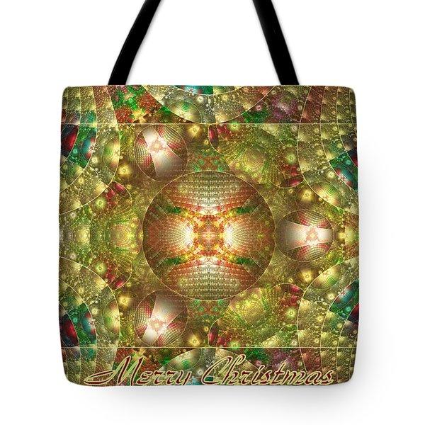 Abstract Christmas Card Tote Bag by Sandy Keeton