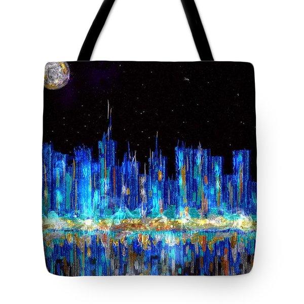 Abstract City Skyline Tote Bag