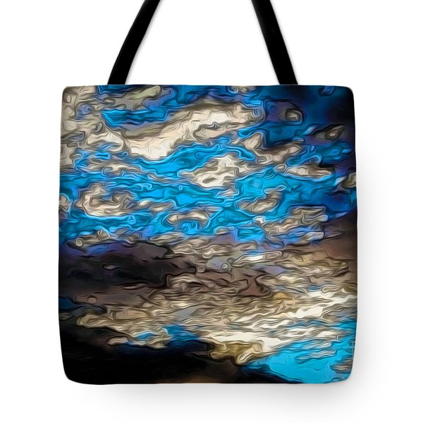 Abstract Clouds Tote Bag by Claudia Ellis