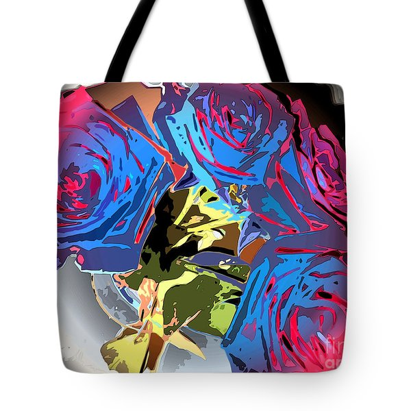 Abstract Cluster Of Roses Tote Bag by Minding My  Visions by Adri and Ray