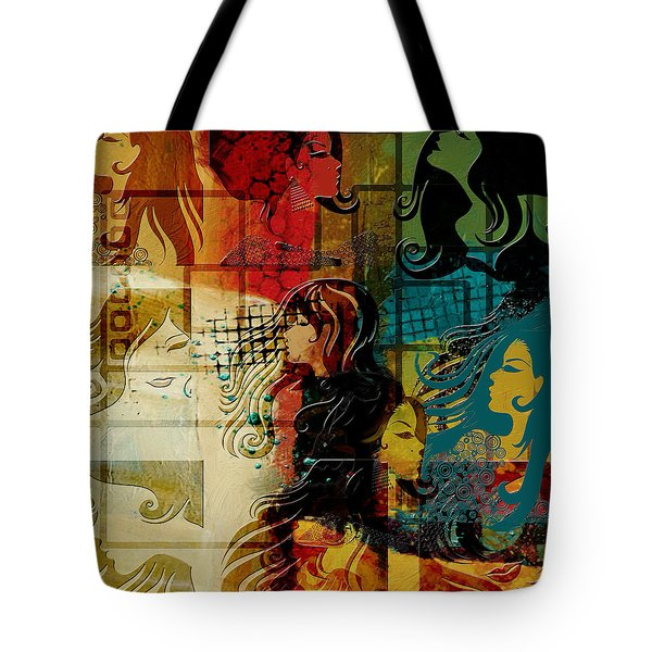 Abstract Collage 01 Tote Bag by Corporate Art Task Force