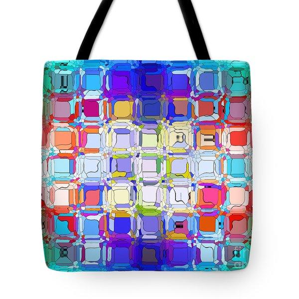 Abstract Color Blocks Tote Bag by Anita Lewis