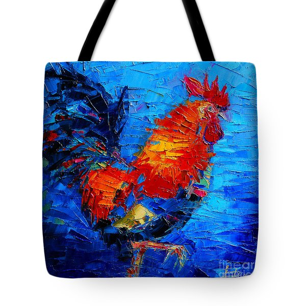 Abstract Colorful Gallic Rooster Tote Bag