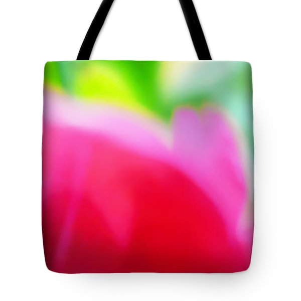 Tote Bag featuring the photograph Abstract Colors Of Spring by Menega Sabidussi