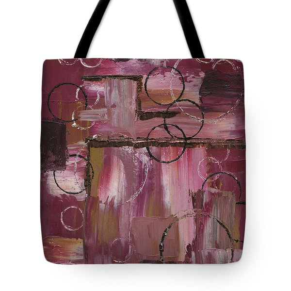 Abstract Connection Two Tote Bag by J L Zarek