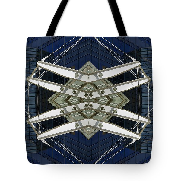 Abstract Construction Tote Bag by Rick Mosher