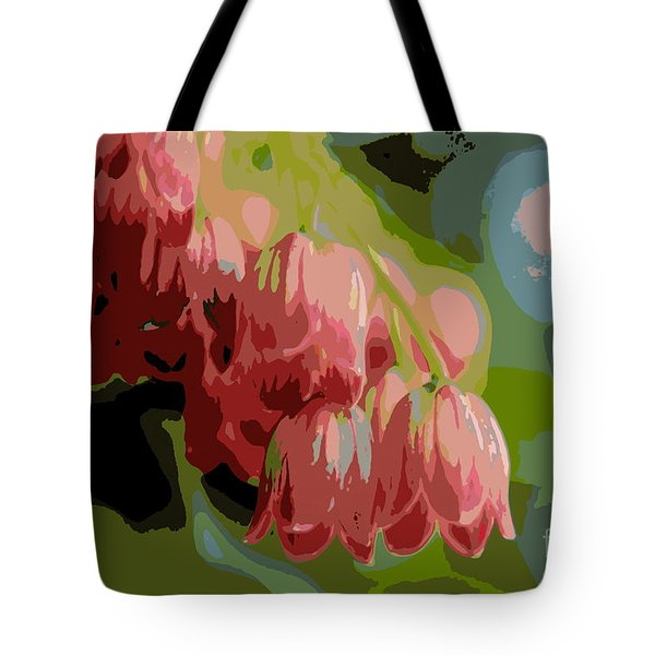 Tote Bag featuring the photograph Abstract Coral Bells by Kenny Glotfelty