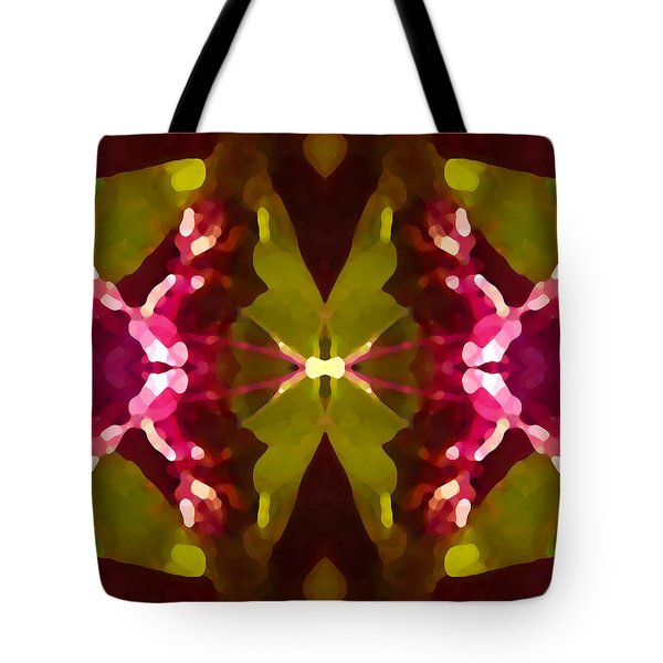 Abstract Crystal Butterfly Tote Bag by Amy Vangsgard