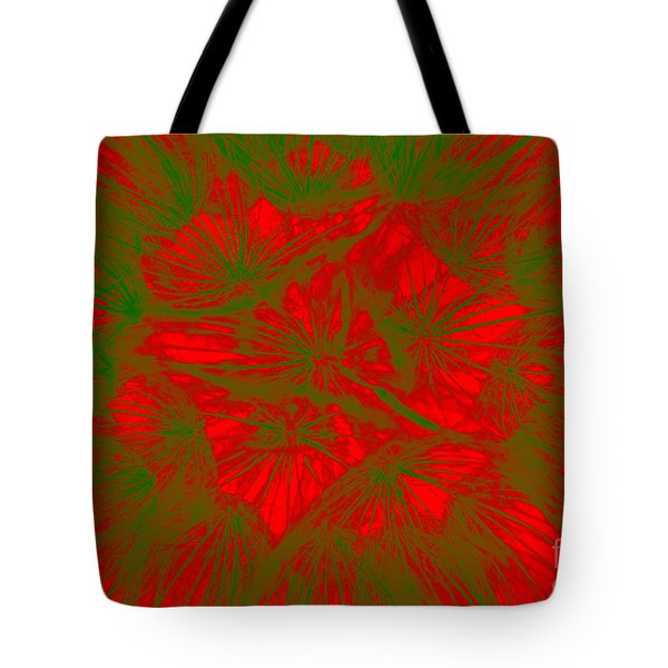 Tote Bag featuring the photograph Abstract Dandelion Bloom by Mae Wertz