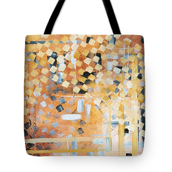 Abstract Decorative Art Original Diamond Checkers Trendy Painting By Madart Studios Tote Bag by Megan Duncanson