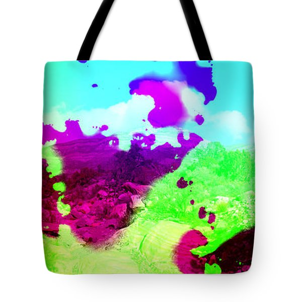 Abstract Desert Scene Tote Bag by Alan and Marcia Socolik