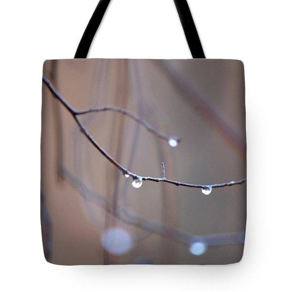 Abstract Dew Drops 2013 Tote Bag by Maria Urso