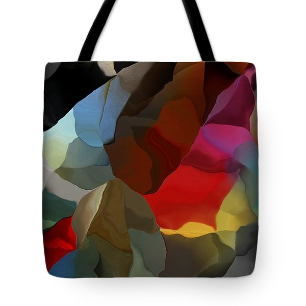 Tote Bag featuring the digital art Abstract Distraction by David Lane