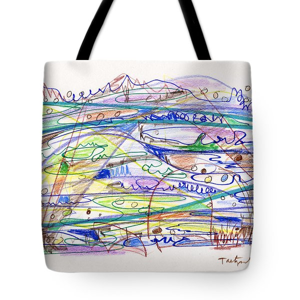 Abstract Drawing Eleven Tote Bag by Lynne Taetzsch