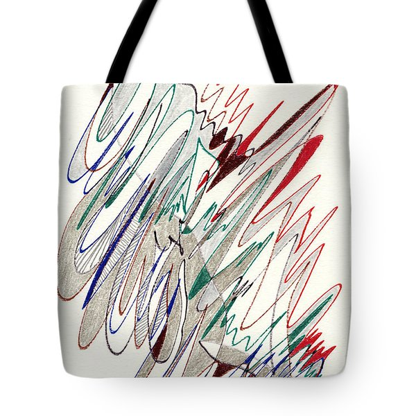 Abstract Drawing Fifty-one Tote Bag by Lynne Taetzsch