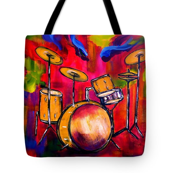 Abstract Drums II Tote Bag by Pete Maier