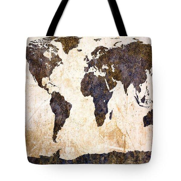 Abstract Earth Map Tote Bag by Bob Orsillo