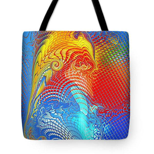 Abstract Elephant By Nico Bielow Tote Bag by Nico Bielow