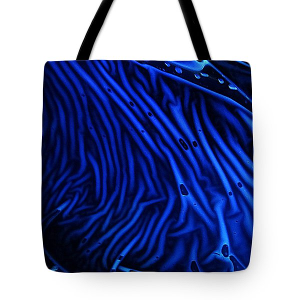 Abstract Experimental Chemiluminescent Photography Blue 1 Tote Bag