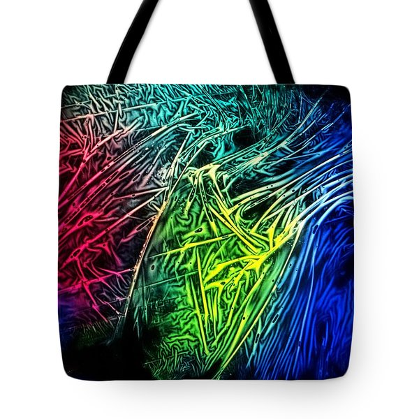 Abstract Experimental Chemiluminescent Photography Tote Bag