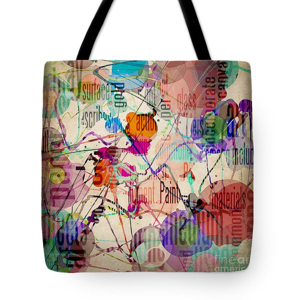 Tote Bag featuring the digital art Abstract Expressionism by Phil Perkins