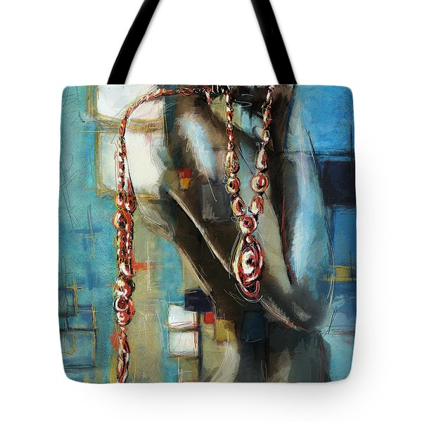 Abstract Figure Work Tote Bag by Catf