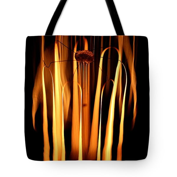 Tote Bag featuring the photograph Abstract Filament by Kenny Glotfelty