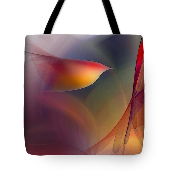 Abstract Fine Art Print Early In The Morning Tote Bag by Karin Kuhlmann