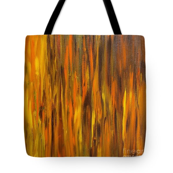 Abstract Fireside Tote Bag by Susan  Dimitrakopoulos