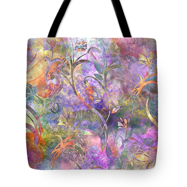 Abstract Floral Designe  Tote Bag by Debbie Portwood