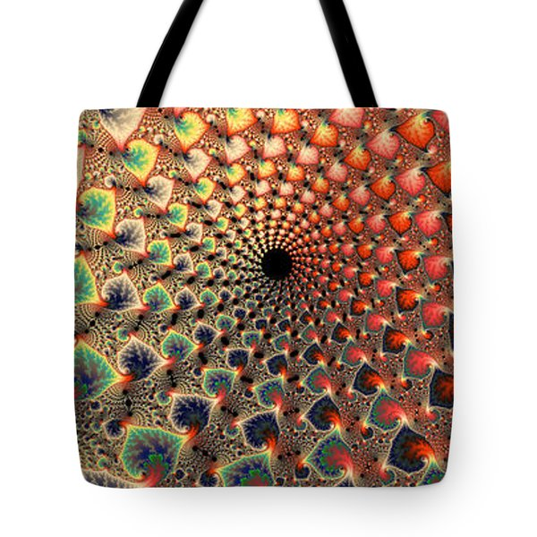 Abstract Floral Fractal Art Tall And Narrow Tote Bag by Matthias Hauser