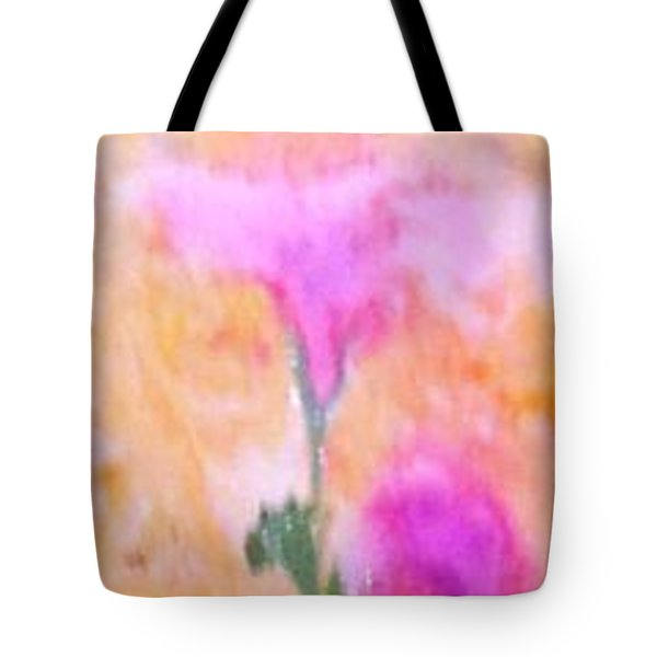 Tote Bag featuring the painting Abstract Floral by Mike Breau