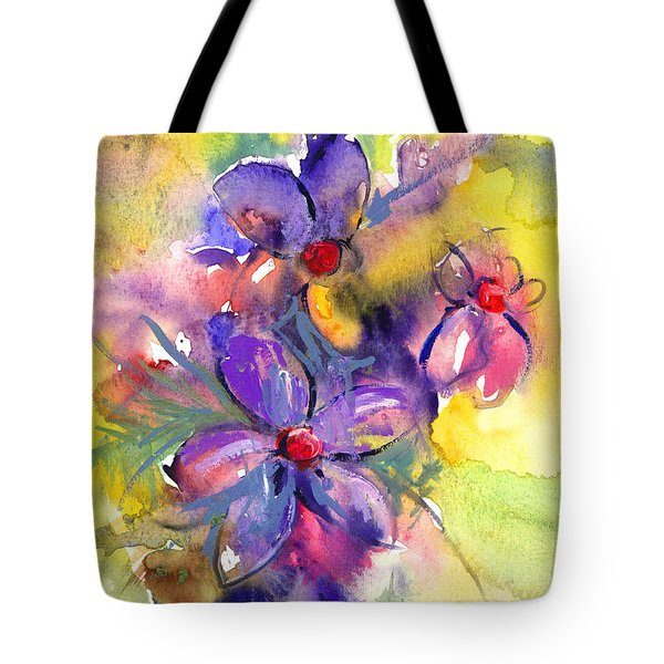 abstract Flower botanical watercolor painting print Tote Bag by Svetlana Novikova