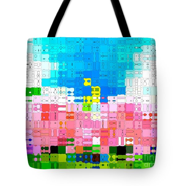 Abstract Flower Garden Tote Bag by Anita Lewis