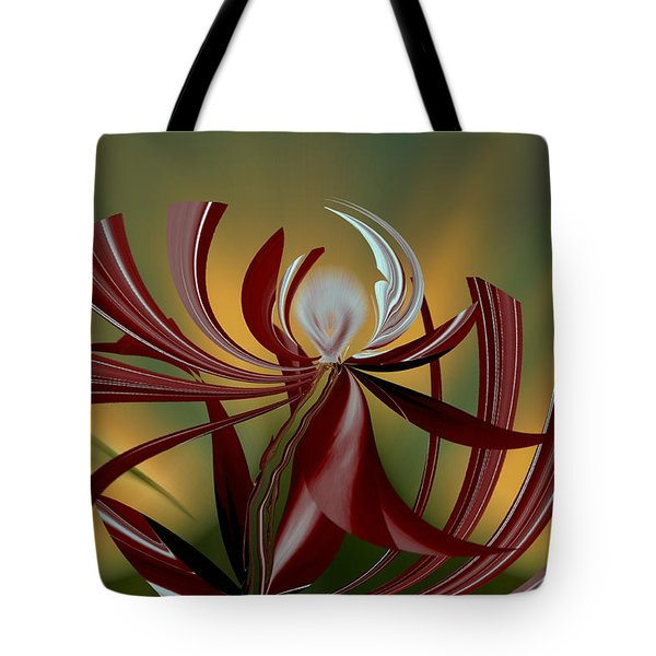 Abstract - Flower Tote Bag by rd Erickson