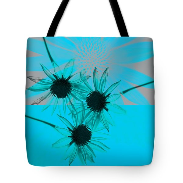 abstract - flowers - Flower Collage  Tote Bag by Ann Powell