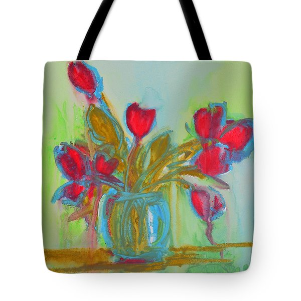 Abstract Flowers Tote Bag by Patricia Awapara