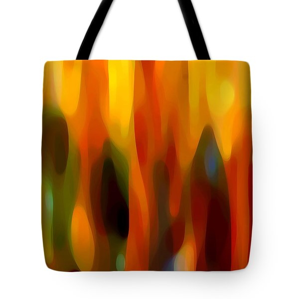 Abstract Forest Tote Bag by Amy Vangsgard
