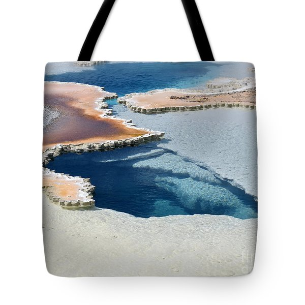 Abstract From The Land Of Geysers. Yellowstone Tote Bag