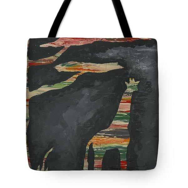 Abstract Giraffe Tote Bag