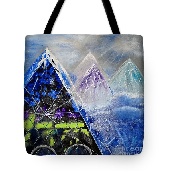 Abstract Glass Mountain Tote Bag