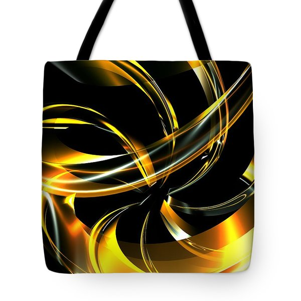 Abstract Glass Ribbon Tote Bag by Louis Ferreira