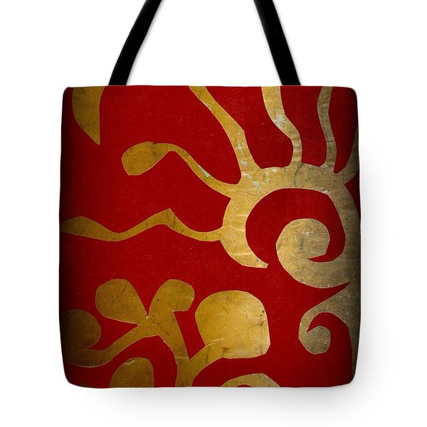 Abstract Gold Collage Tote Bag