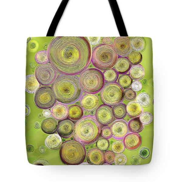 Abstract Grapes Tote Bag by Veronica Minozzi