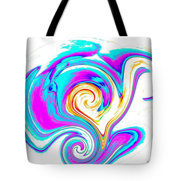Abstract Heart Art Tote Bag by Annie Zeno