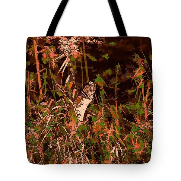 Abstract Heron   Leif Sohlman Tote Bag by Leif Sohlman