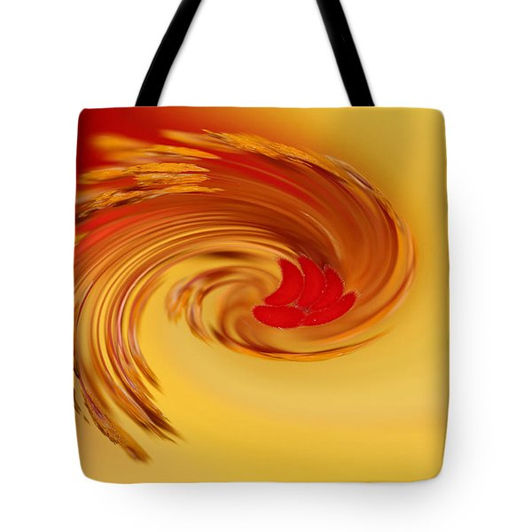 Tote Bag featuring the photograph Abstract Swirl Hibiscus Flower by Debbie Oppermann