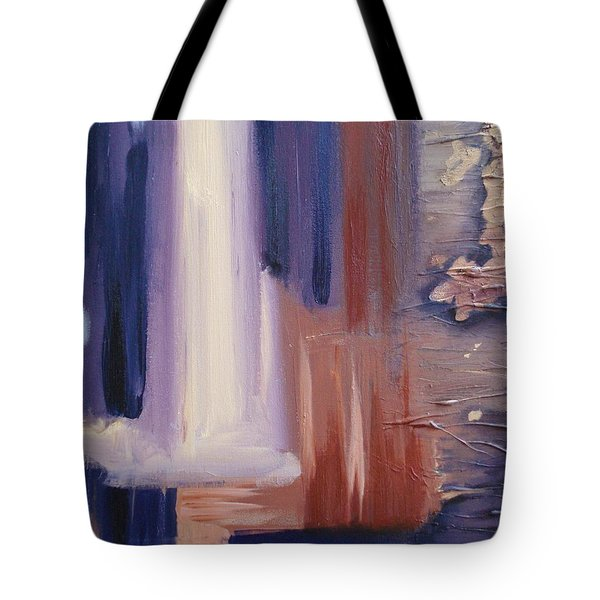 Tote Bag featuring the painting Abstract I by Donna Tuten