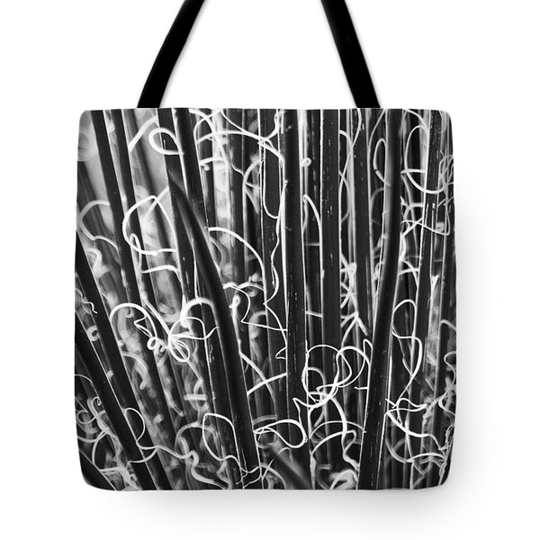 Abstract In Black And White Tote Bag